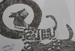 untitled by Subhranil Das, Illustration Drawing, Pen on Paper, Black color
