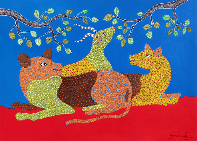Gond Painting By Unknown Artist