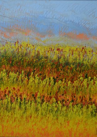 Landscape by Mahmood Ahmad, Abstract Painting, Acrylic on Canvas, Brown color