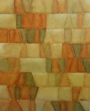 Innerscapes 27 by Gayatri Deshpande, Geometrical Painting, Acrylic on Canvas, Brown color