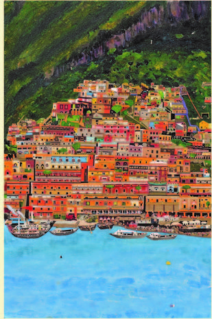 The Seaside by Sailesh Sanghvi, Impressionism Painting, Mixed Media, Brown color