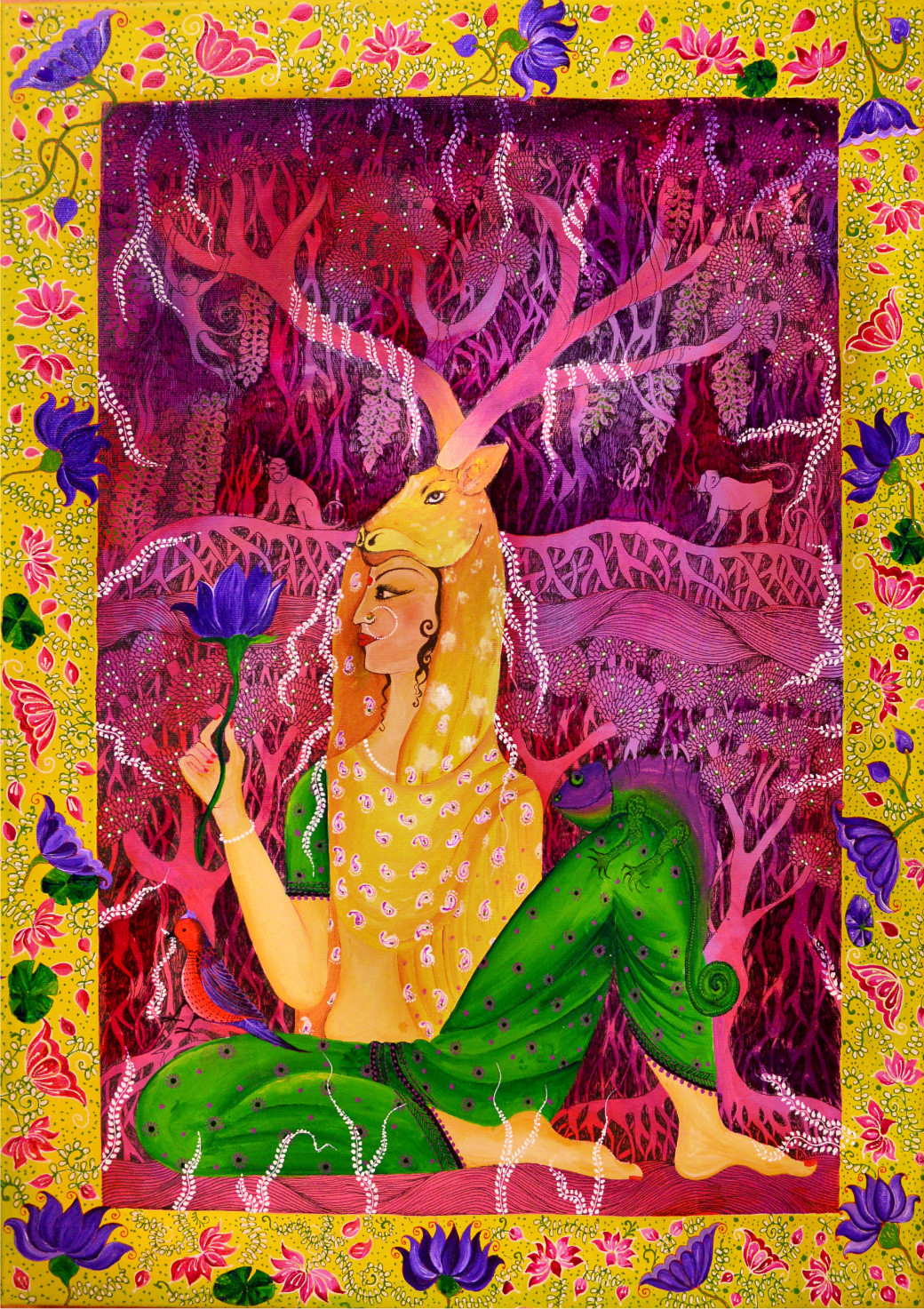 My Bani Thani Digital Print by Pragati Sharma Mohanty,Fantasy