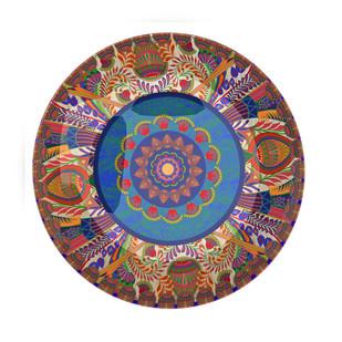 "Sylvan Egyptian Decorative Plate 10"" Wall Decor By Kolorobia"