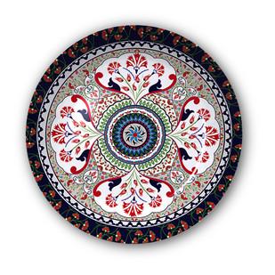 "Turkish Fervor Decorative Plate 10"" Wall Decor By Kolorobia"
