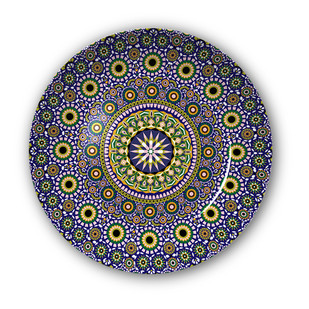"""Moroccan Inspiration Decorative Plate 10"""" Wall Decor By Kolorobia"""