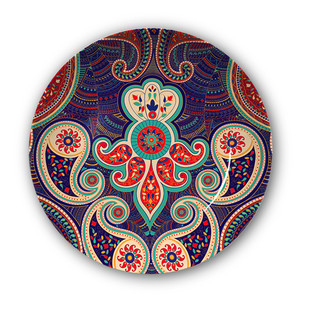 "Majestic Paisley Decorative Plate 10"" Wall Decor By Kolorobia"