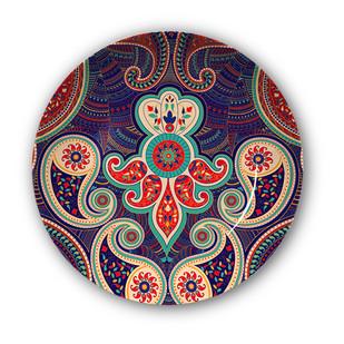 "Majestic Paisley Decorative Plate 10"" Wall Decor By Kolorobia"