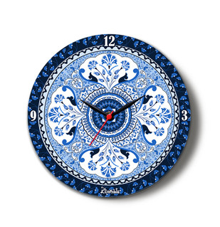 "Pristine Turkish Glass Clock 10"" Clock By Kolorobia"