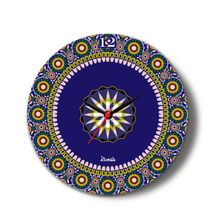 """Moroccan Inspiration Glass Clock 16"""" Clock By Kolorobia"""