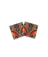 Majestic Paisley Wooden Coasters Coaster Set By Kolorobia