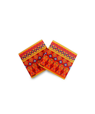 Dazzling Ikat Wooden Coasters Coaster Set By Kolorobia