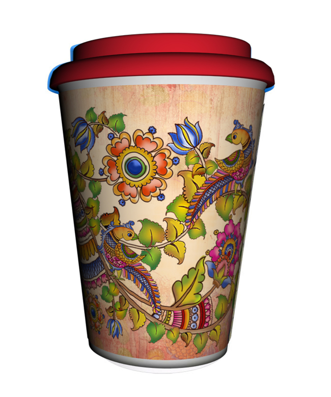 Kalamkari Finesse Coffee Mug Coffee Mug By Kolorobia