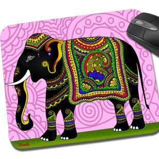 Elephant Majesty Mouse Pad Mousepad By Kolorobia