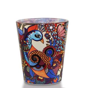 Peacock Admiration Shot Glass Serveware By Kolorobia