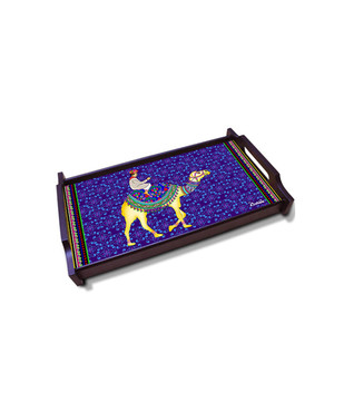 Camel Glory Large Wooden Tray Tray By Kolorobia