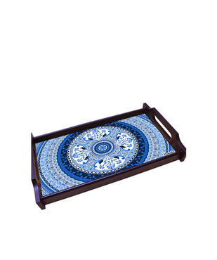 Pristine Turkish Small Wooden Tray Tray By Kolorobia