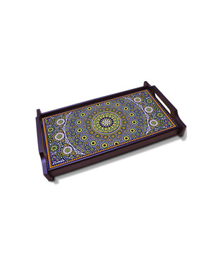Moroccan Inspiration Medium Wooden Tray Tray By Kolorobia
