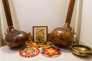 Sacred instruments by Ankit Agrawal, Image Photography, Digital Print on Archival Paper, Brown color
