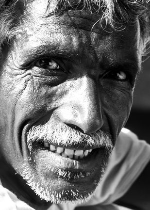 How are you by Bharat Tiwari, Image Photography, Digital Print on Archival Paper, Gray color