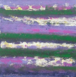 Untitled by Maredu Ramu, Abstract Painting, Acrylic on Canvas, Green color