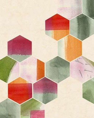 Color Pop Honeycomb II Digital Print by Popp, Grace,Abstract