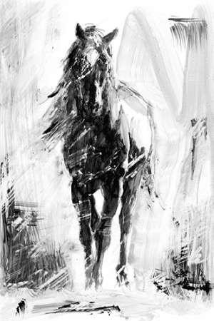 Rustic Stallion II Digital Print by Harper, Ethan,Illustration