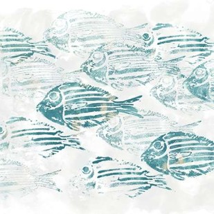 Sealife Batik II Digital Print by Vess, June Erica,Impressionism
