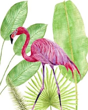Tropical Flamingo I Digital Print by Wang, Melissa,Impressionism