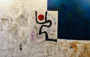 White Series 2 by Shreya Shailee, Abstract Painting, Mixed Media on Canvas, Beige color