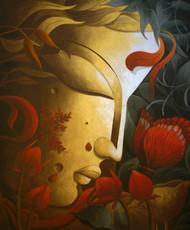 Vandevta (God of the Rain Forest) Digital Print by Dhananjay Mukherjee,Traditional