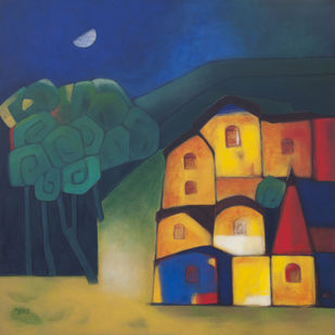 Healthy Village Digital Print by Dipak Asole,Geometrical