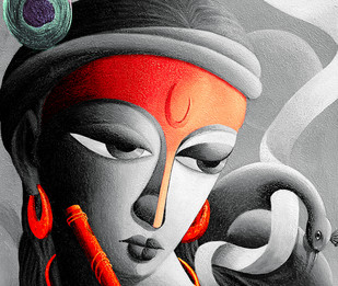 Mayavi II Digital Print by Dhananjay Mukherjee,Traditional