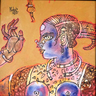 tribal woman 02 Digital Print by K K Makali,Traditional