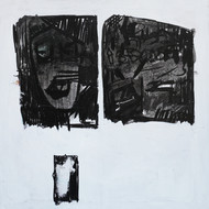emotions and responses 3 by Aditya Sagar, Abstract Painting, Acrylic & Ink on Canvas, Gray color