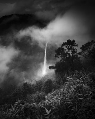 Nohkalikai falls,meghalaya by Jayanta Roy, Image Photography, Digital Print on Archival Paper, Gray color