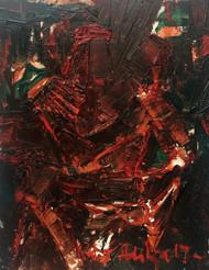 UNTITLED by Aditya Dev, Abstract Painting, Oil on Canvas, Brown color