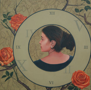Life and Times by Vani Chawla, Expressionism Painting, Acrylic on Canvas, Brown color