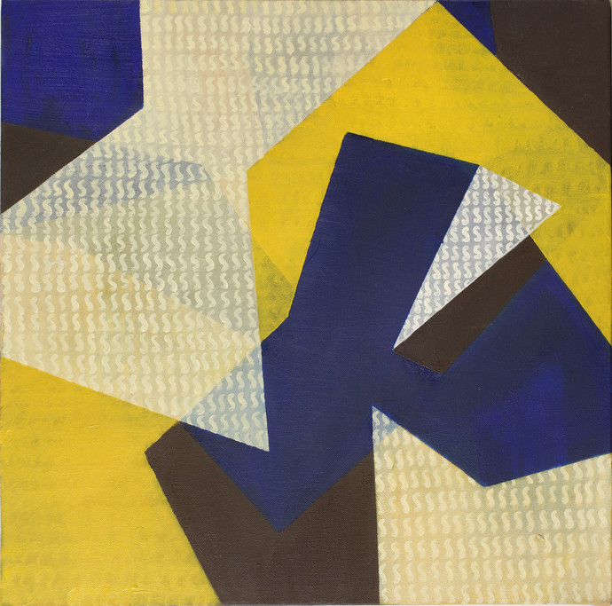 Untitled II by Nivedita Pande, Geometrical Painting, Oil on Canvas, Beige color
