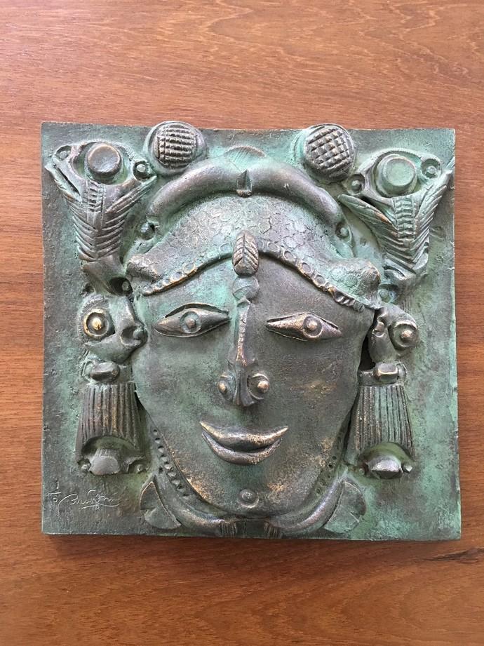 Untitled by Laxma Goud, Art Deco Sculpture   3D, Bronze, Brown color