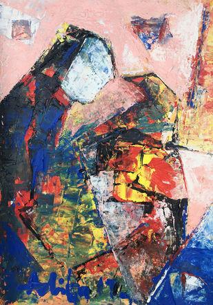 CONTIGUOUS- 5 Digital Print by Aditya Dev,Abstract