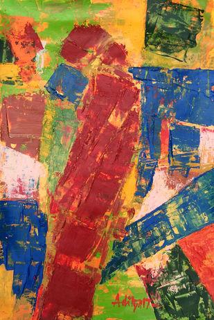 CONTIGUOUS- 6 Digital Print by Aditya Dev,Abstract