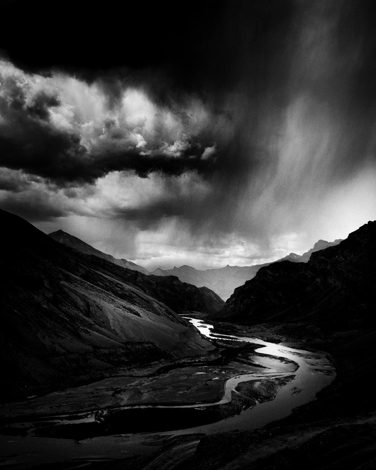Indus by Jayanta Roy, Image Photography, Digital Print on Archival Paper, Gray color
