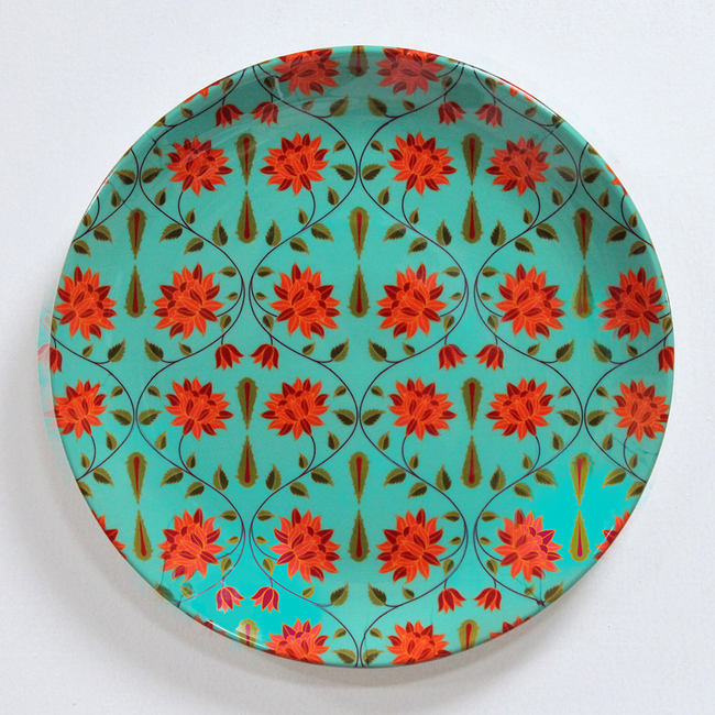 "KOLOROBIA BABUR INSPIRED HOME DÉCOR WALL PLATE 8"" Wall Decor By Kolorobia"