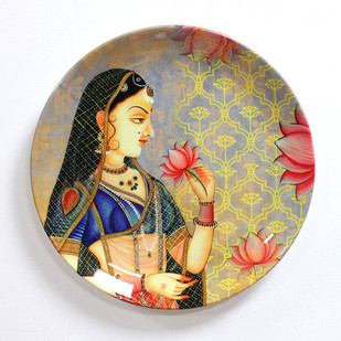 """ROYAL MUGHAL QUEEN MUMTAZ INSPIRED HOME DECOR WALL PLATE 8"""" Wall Decor By Kolorobia"""