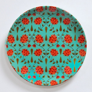 """KOLOROBIA BABUR INSPIRED HOME DÉCOR WALL PLATE 10"""" Other Accessories By Kolorobia"""