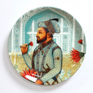 """ROYAL MUGHAL EMPEROR SHAHNAHAN INSPIRED HOME DECOR WALL PLATE 10"""" Other Accessories By Kolorobia"""