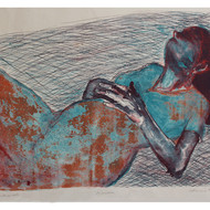 Reclining woman  lithograph   49 x 38