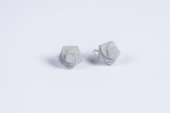 Micro Concrete Earrings by Material Immaterial, Art Jewellery Earring