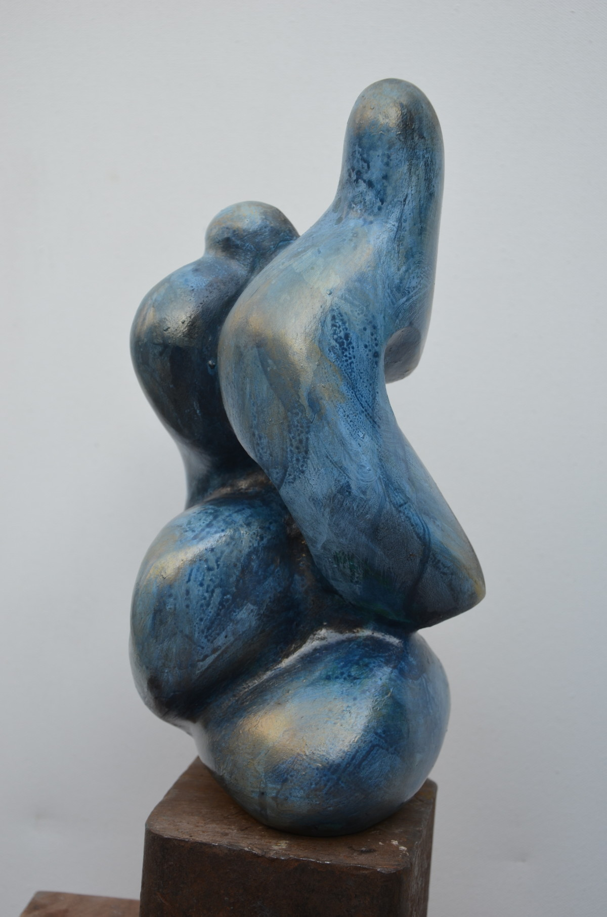 Caress I by Gurmeet Goldie, Art Deco Sculpture   3D, Metal, Gray color