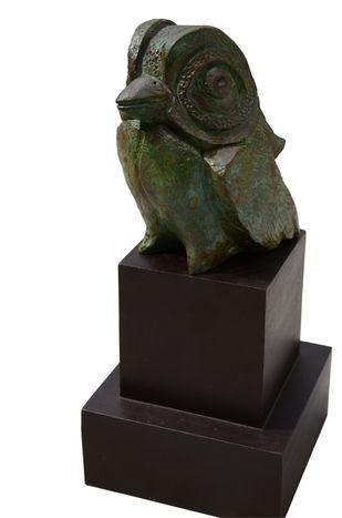 Little Bird by Atish Mukherjee, Art Deco Sculpture | 3D, Bronze, Gray color